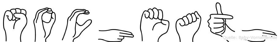 Socheath im Fingeralphabet der Deutschen Gebärdensprache