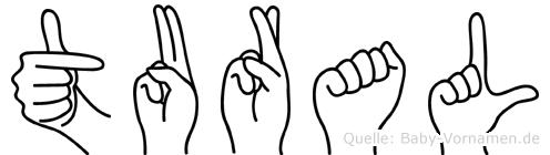 Tural im Fingeralphabet der Deutschen Gebärdensprache