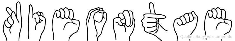 Kieontae in Fingersprache für Gehörlose