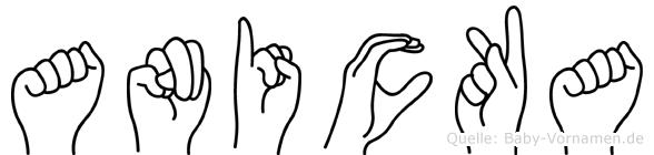 Anicka im Fingeralphabet der Deutschen Gebärdensprache