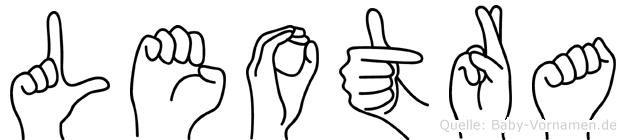 Leotra im Fingeralphabet der Deutschen Gebärdensprache