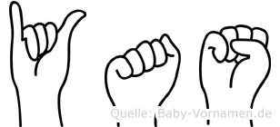 Yas im Fingeralphabet der Deutschen Gebärdensprache