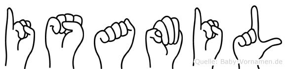 Isamil im Fingeralphabet der Deutschen Gebärdensprache