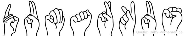 Dumarkus im Fingeralphabet der Deutschen Gebärdensprache