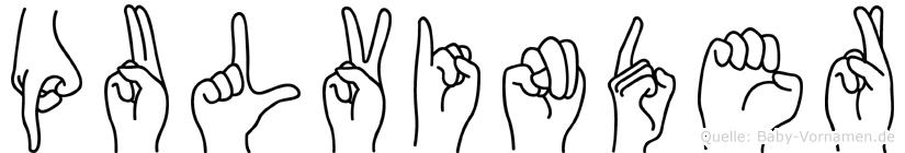Pulvinder in Fingersprache für Gehörlose