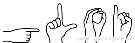 Gloi im Fingeralphabet der Deutschen Gebärdensprache