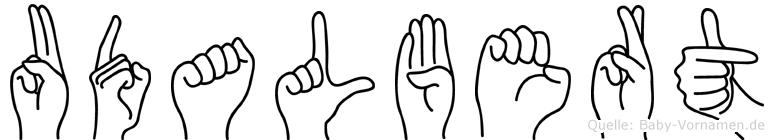 Udalbert im Fingeralphabet der Deutschen Gebärdensprache