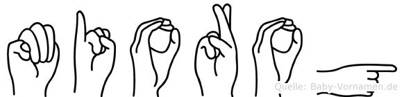Miorog in Fingersprache für Gehörlose