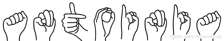 Antoinia in Fingersprache für Gehörlose
