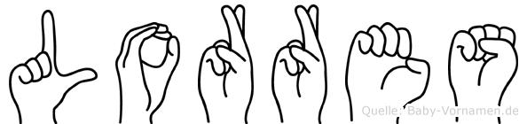 Lorres im Fingeralphabet der Deutschen Gebärdensprache