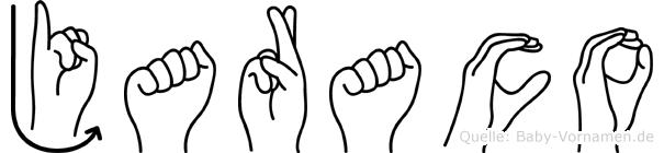 Jaraco im Fingeralphabet der Deutschen Gebärdensprache