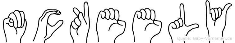 Mckeely in Fingersprache für Gehörlose