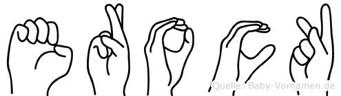 Erock im Fingeralphabet der Deutschen Gebärdensprache