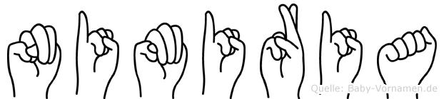 Nimiria im Fingeralphabet der Deutschen Gebärdensprache