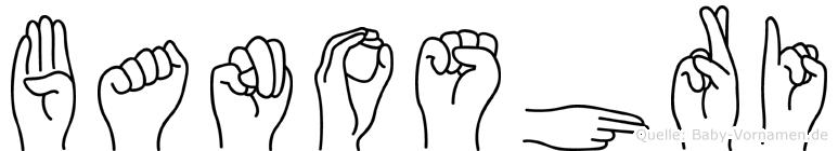 Banoshri im Fingeralphabet der Deutschen Gebärdensprache