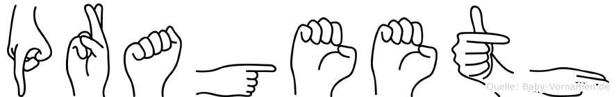Prageeth im Fingeralphabet der Deutschen Gebärdensprache