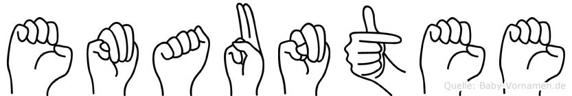 Emauntee im Fingeralphabet der Deutschen Gebärdensprache