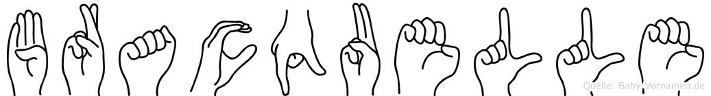 Bracquelle im Fingeralphabet der Deutschen Gebärdensprache