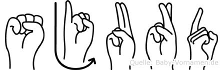 Sjurd im Fingeralphabet der Deutschen Gebärdensprache