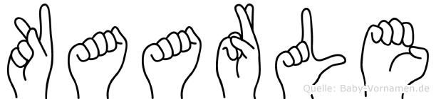 Kaarle im Fingeralphabet der Deutschen Gebärdensprache