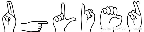 Uglier in Fingersprache für Gehörlose