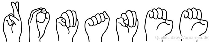 Romanee in Fingersprache für Gehörlose