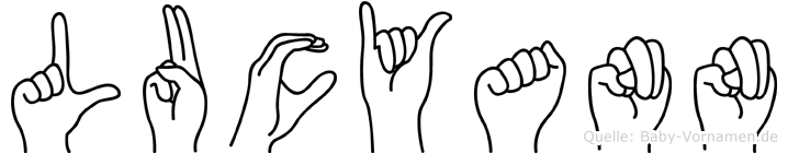 Lucyann im Fingeralphabet der Deutschen Gebärdensprache