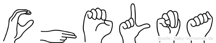 Chelna in Fingersprache für Gehörlose