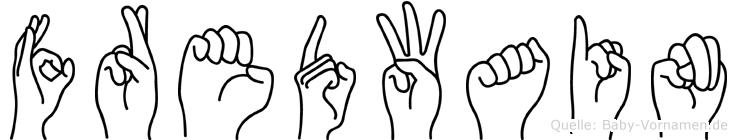 Fredwain im Fingeralphabet der Deutschen Gebärdensprache