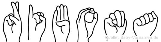 Ribona im Fingeralphabet der Deutschen Gebärdensprache