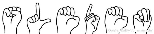 Sleden in Fingersprache für Gehörlose