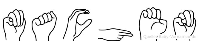 Machen im Fingeralphabet der Deutschen Gebärdensprache