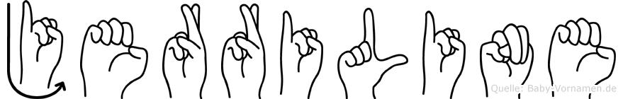 Jerriline im Fingeralphabet der Deutschen Gebärdensprache