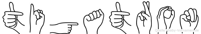 Tigatron im Fingeralphabet der Deutschen Gebärdensprache