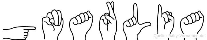 Gnarlia in Fingersprache für Gehörlose