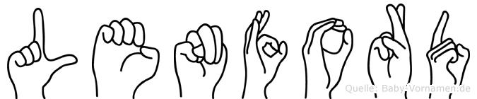 Lenford in Fingersprache für Gehörlose