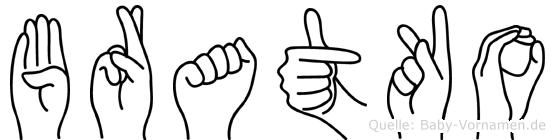 Bratko in Fingersprache für Gehörlose