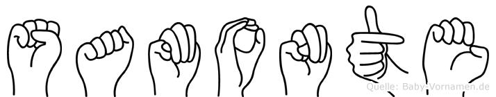 Samonte in Fingersprache für Gehörlose