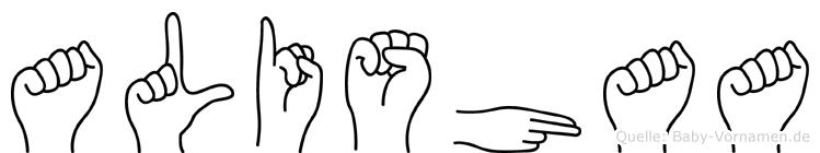 Alishaa in Fingersprache für Gehörlose