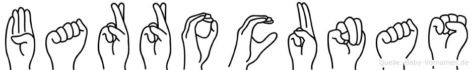 Barrocunas im Fingeralphabet der Deutschen Gebärdensprache