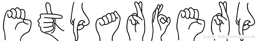 Etparferp im Fingeralphabet der Deutschen Gebärdensprache