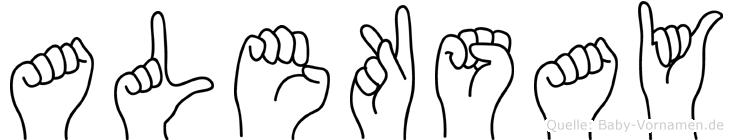 Aleksay in Fingersprache für Gehörlose