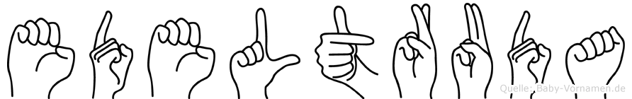 Edeltruda in Fingersprache für Gehörlose