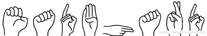 Eadbhard in Fingersprache für Gehörlose