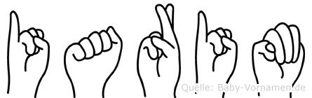 Iarim im Fingeralphabet der Deutschen Gebärdensprache
