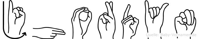 Jhordyn im Fingeralphabet der Deutschen Gebärdensprache