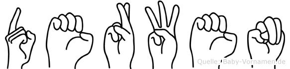 Derwen in Fingersprache für Gehörlose