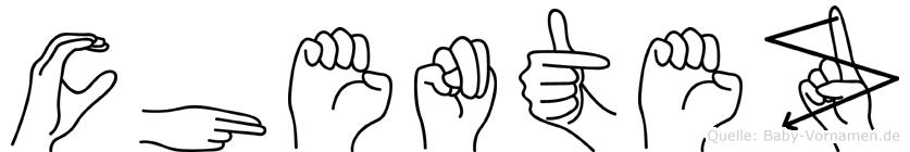 Chentez in Fingersprache für Gehörlose