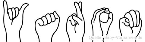 Yarom im Fingeralphabet der Deutschen Gebärdensprache