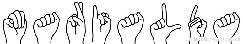 Marialda in Fingersprache für Gehörlose